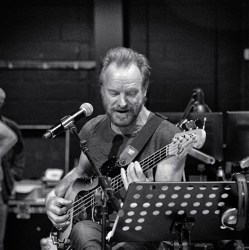 Sting plays and sings